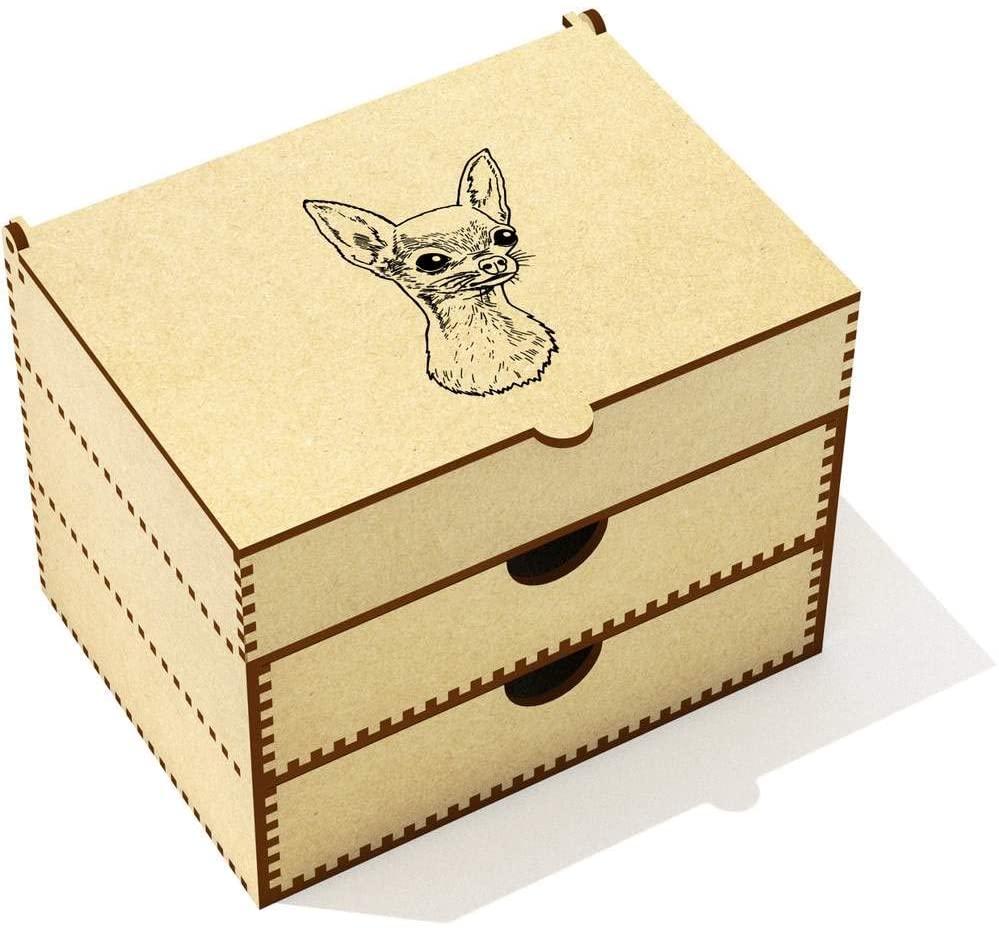 Azeeda 'Cute Chihuahua Dog' Vanity Case / Makeup Box (VC00012364)