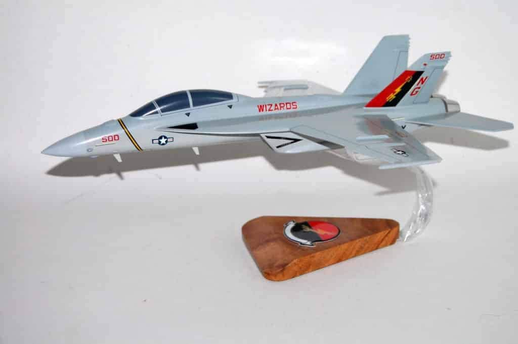 VAQ-133 Wizards EA-18G (Damaged) Model