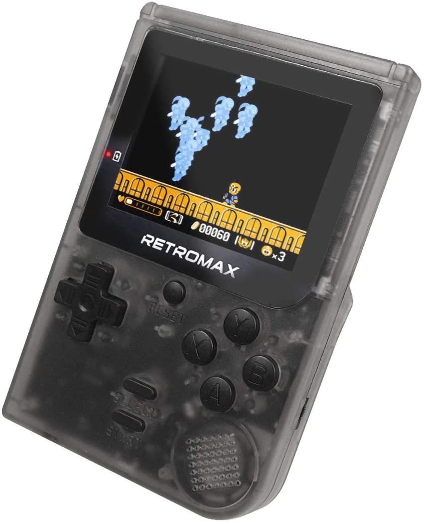 LJ2 Handheld Game Console, Retro Games Console with 181 Classic Games 3-Inch Screen 600Mah Rechargeable Portable Game Console/for Kids Gift