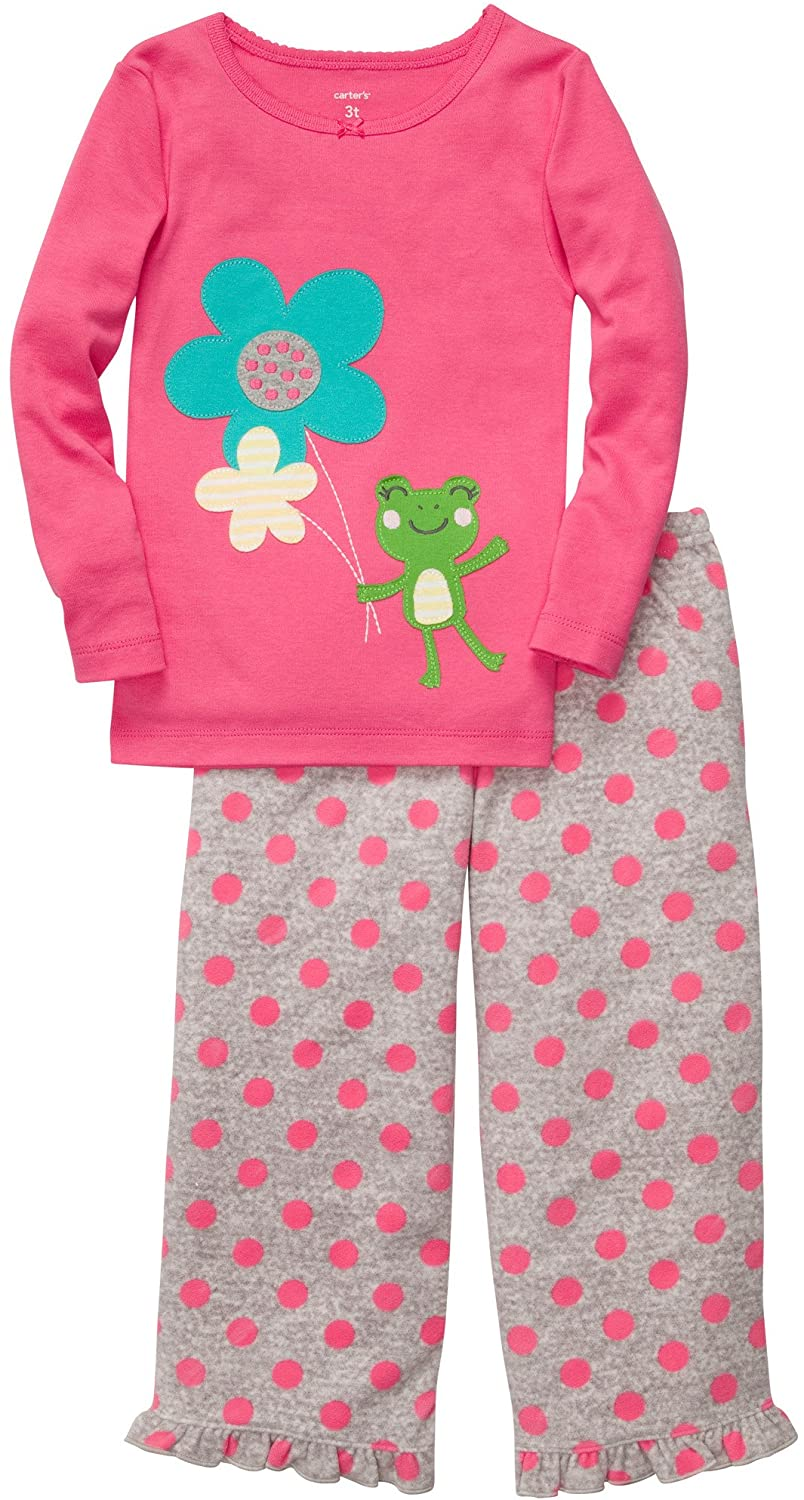 Carter's 2-Pc L/S Embroidery Set - Frog w/ Dot- 5T