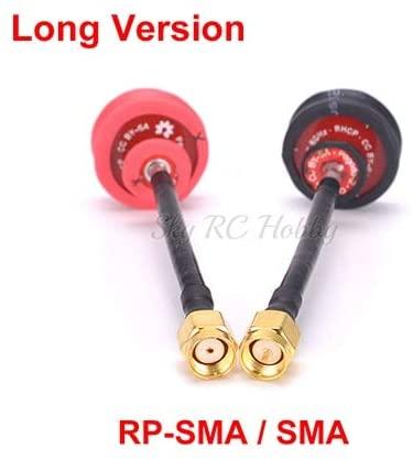 Parts & Accessories Pagoda 2 Pagoda-2 5.8GHz FPV Antenna SMA/RP-SMA Plug Connector Long/Short Version for QAV-X 214 X220S 250mm RC Racing Drone - (Color: 1xSMA 1xRP-SMA Long)