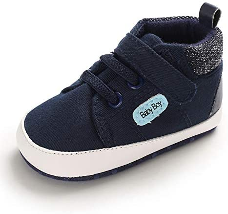 MK MATT KEELY Baby Boys and Girls Striped Sneakers Breathable Hole Shoes Non-Slip Toddler Shoes