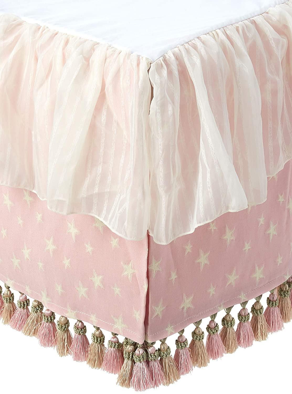 Glenna Jean Crib Skirt Isabella Dust Ruffle for Baby Nursery Crib