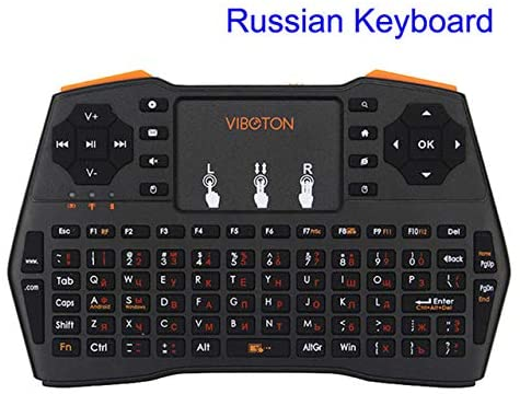 Calvas Mini Handheld Keyboard 2.4G Wireless Rechargeable Air Fly mouse Gaming Keyboards for Laptop PC Smart TV Android TV - (Color: Bundle 2)