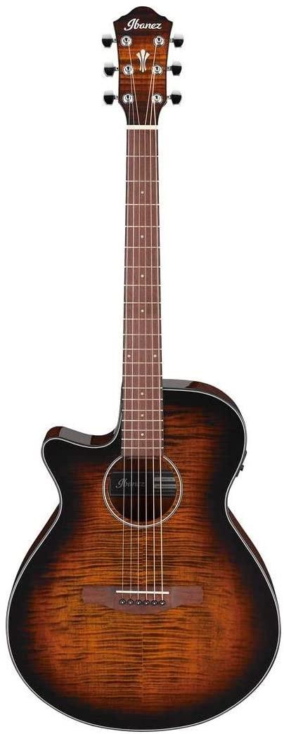 Ibanez AEG70L Left-Handed Acoustic-Electric Guitar - Tiger Burst High Gloss
