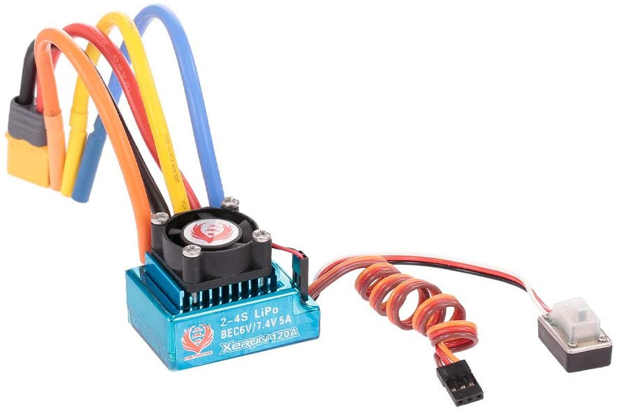 GoolRC 120A Sensored Brushless ESC Electric Speed Controller with BEC XT60 Connector for RC Car Boat