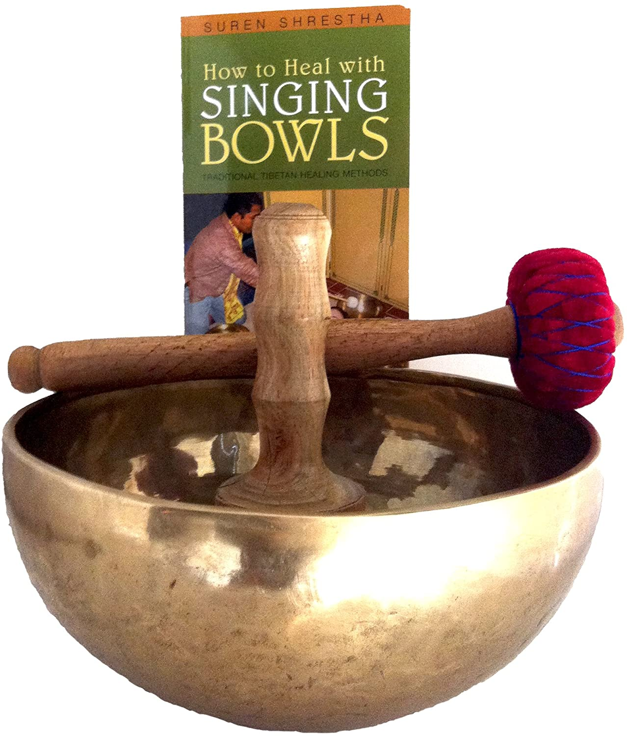 Nepal Singing Bowl - Large Mother Bowl in C Root Chakra with How to Heal with Singing Bowls Book