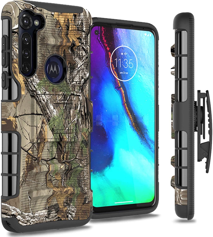 CoverON Explorer Series Rugged Belt Clip Outdoor Armor Phone Cover for Motorola Moto G Stylus Holster Case - Camo