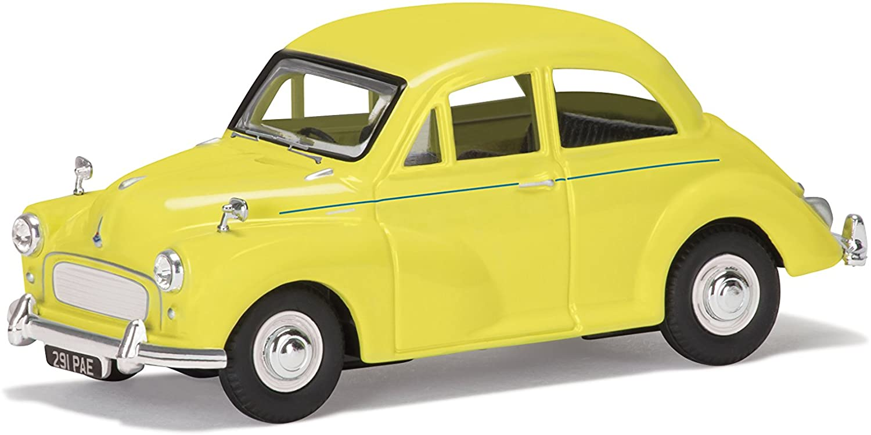 Corgi VA05808 British Motor Heritage Morris Minor 1000 60th Anniversary Collection Model, Highway Yellow