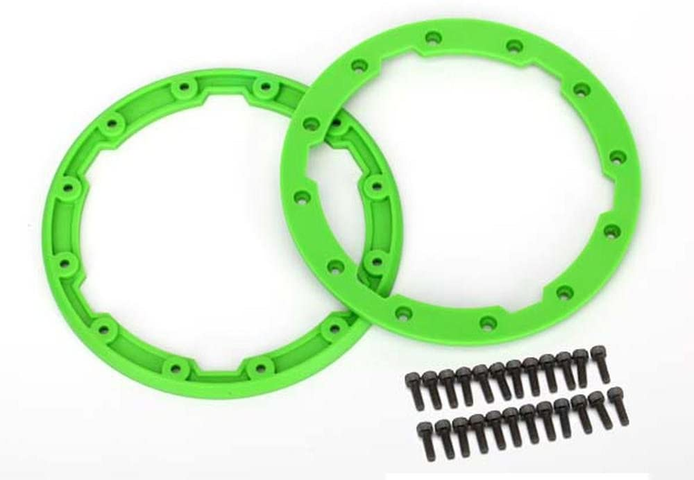 Traxxas 5664 Green Sidewall Protectors (Bead lock) for Geode Wheels (pair)