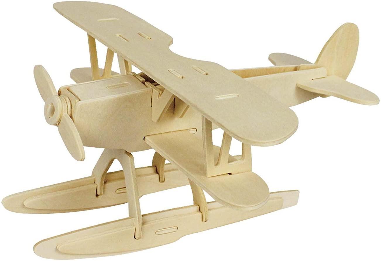 DIY Hydroplane Wooden Puzzle 3D Toy Kit Creative Puzzle Model Kits 28-Piece Building Kit