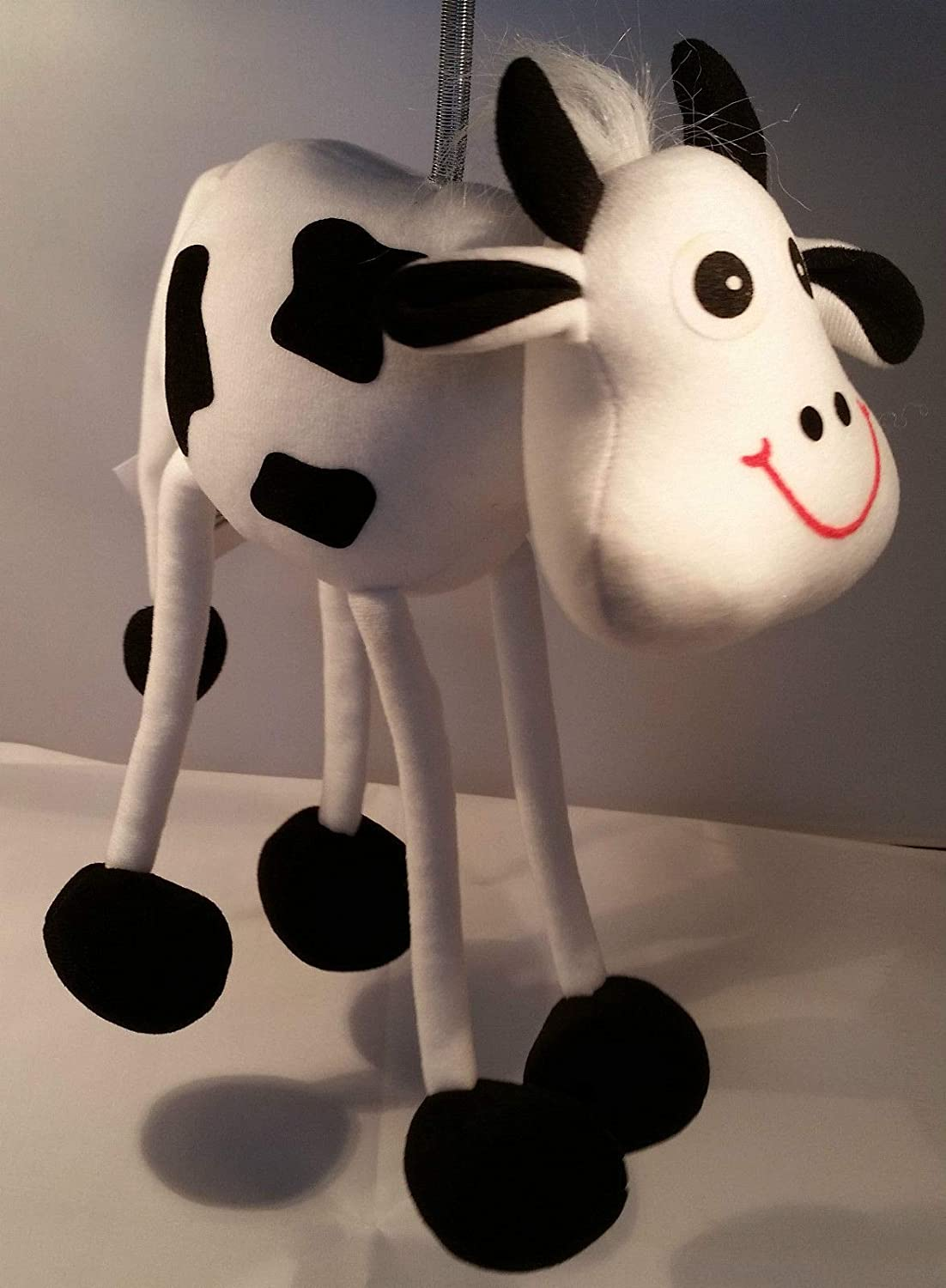 Springy Spotty Cow Panopoly Animal Mobile Distraction for Babies/Young Children