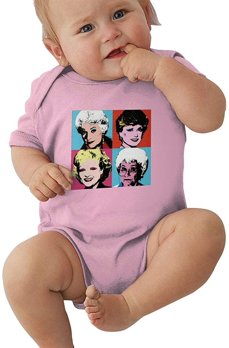 Golden Warhol Girls Baby Cotton Bodysuits Onesies Short Sleeve Bodysuit
