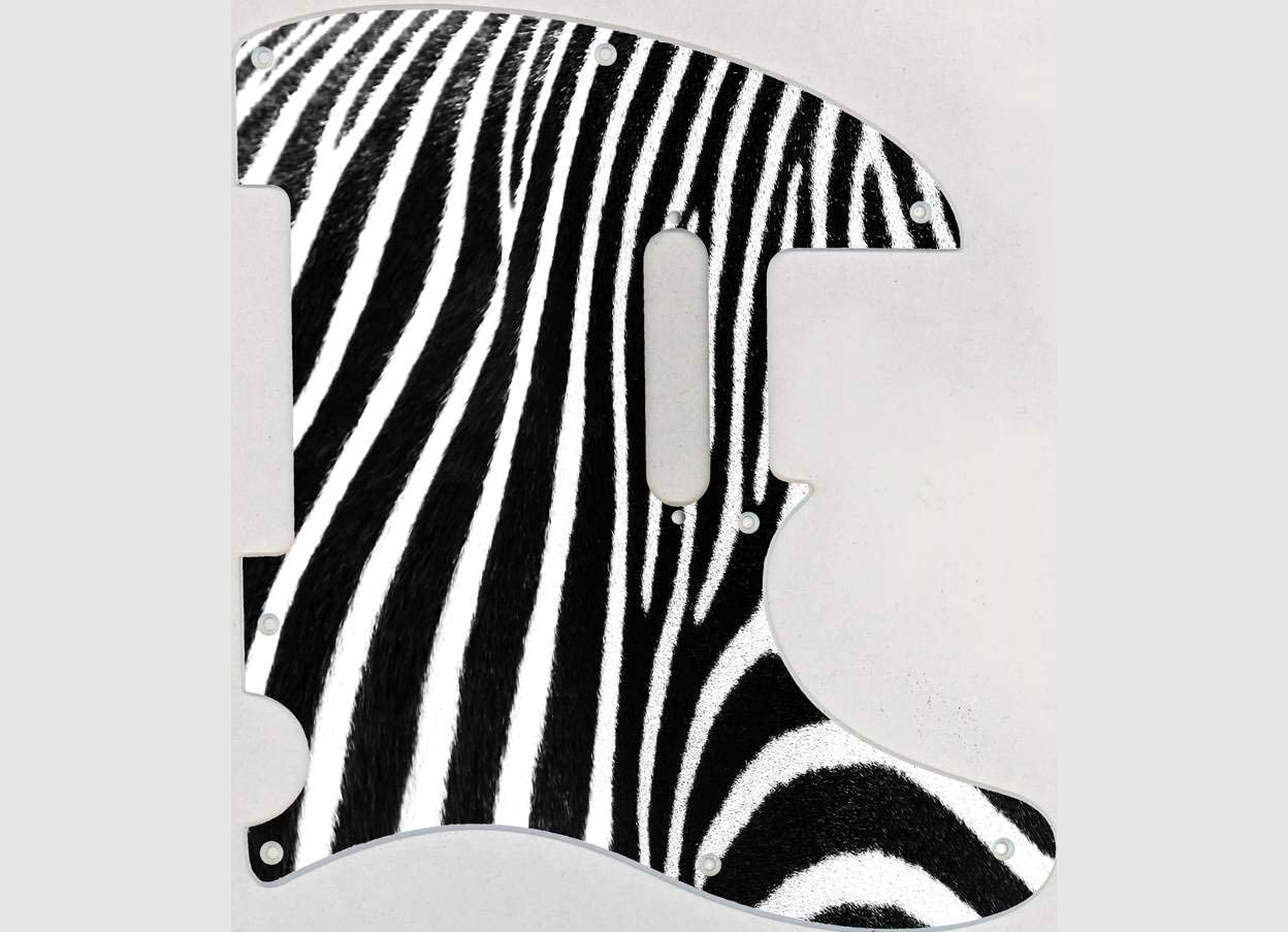 Custom Graphical Pickguard to fit Fender Tele Telecaster Zebra 2