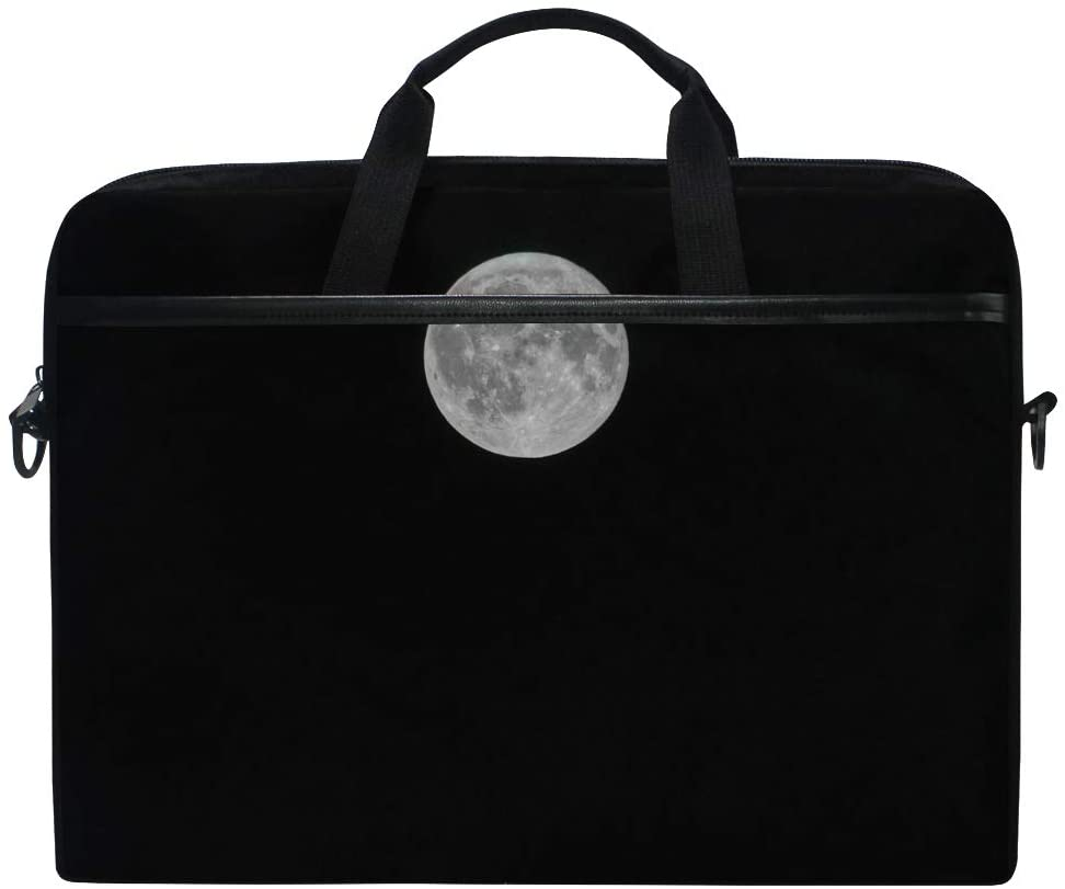 Moon Mens and Womens Computer Bags, Handbags, Briefcases, Shoulder Bags, Suitable for 15 Inch Computers