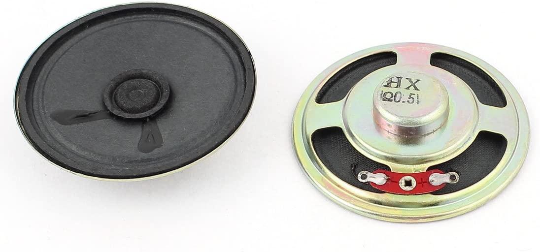 uxcell 0.5W 8 Ohm 55mm Dia Inner Magnet Loudspeaker Speaker Horn 2Pcs