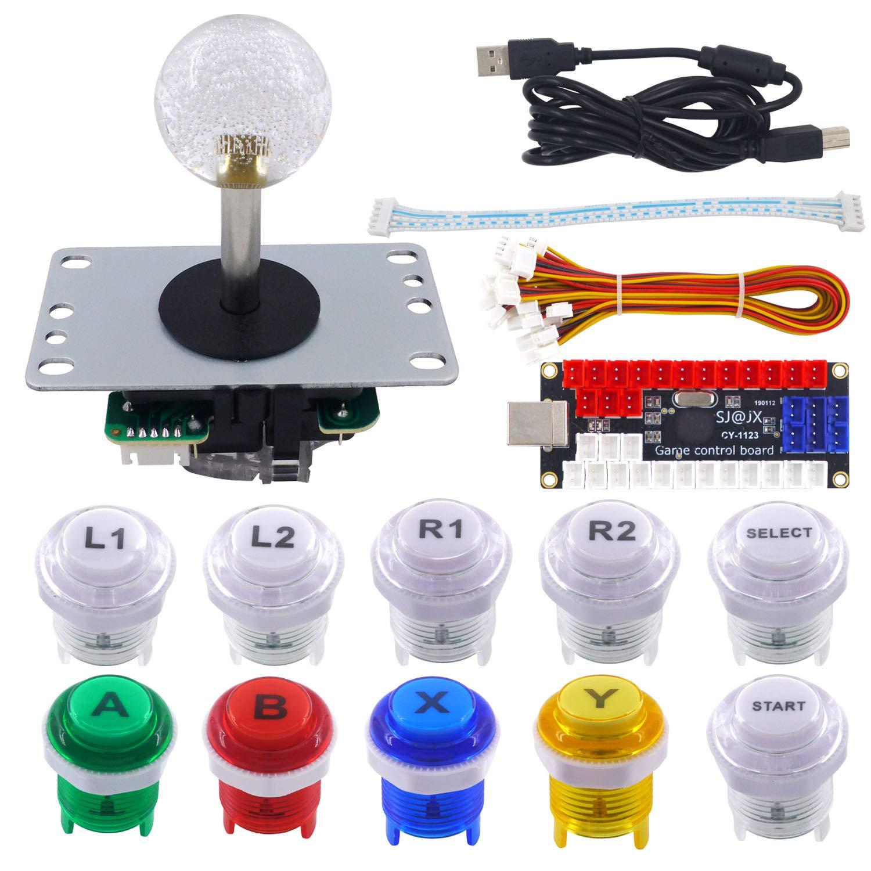 SJ@JX Arcade LED DIY Kit USB Encoder Board Controller Joystick LED Button for MAME Jamma Retro Raspberry Pi Zero Delay