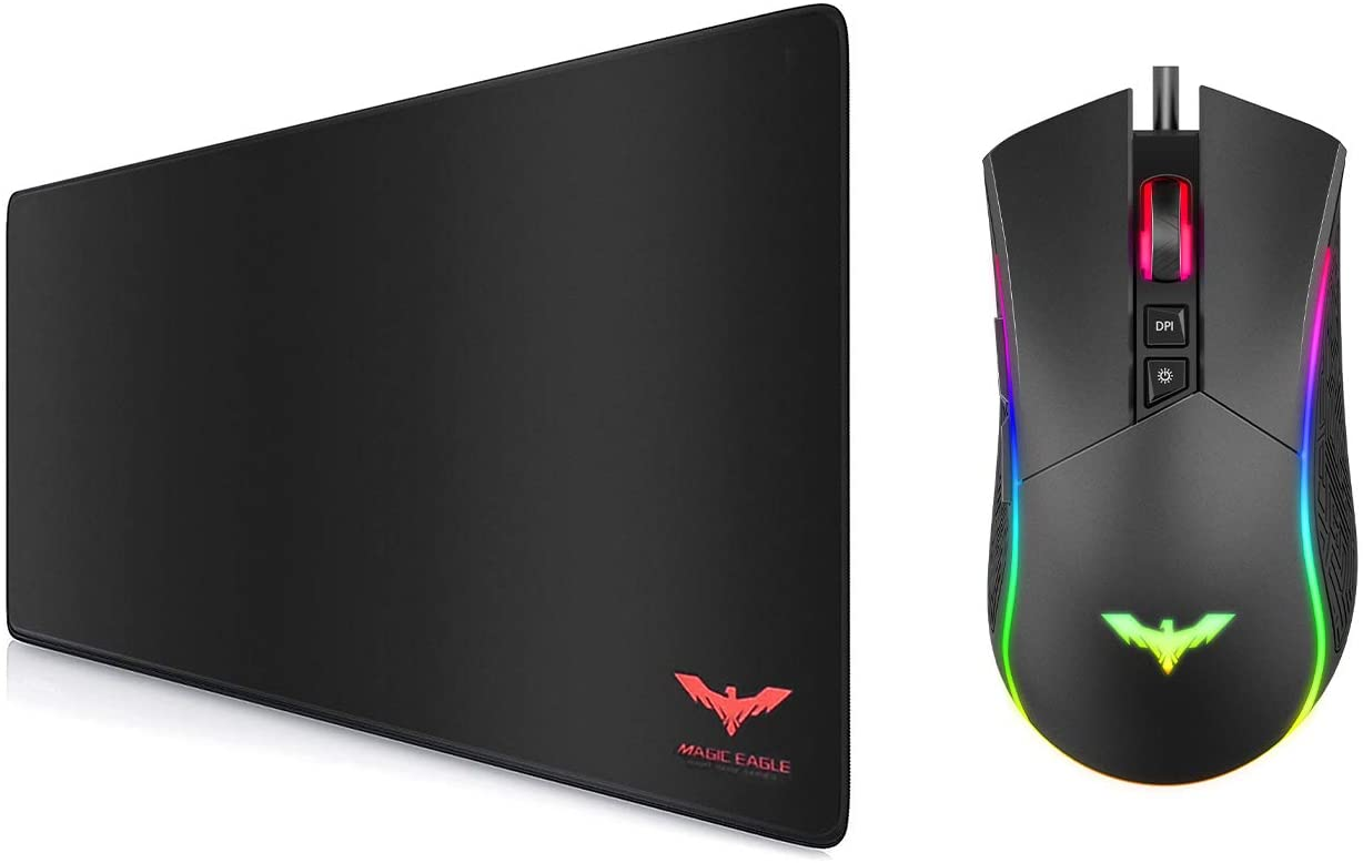 Havit Large Gaming Mouse Pad and Wired RGB Gaming Mouse for PC Gamer Gaming