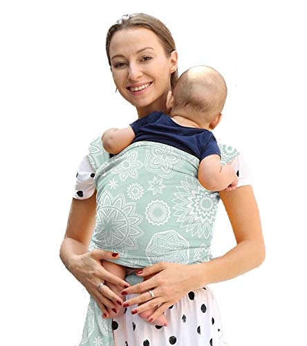 TGQ KIDZ Baby Wrap Carrier Infant and Child Sling Easy Babywearing Newborn for Mom & Dad - Up to 35 lbs (Floral)