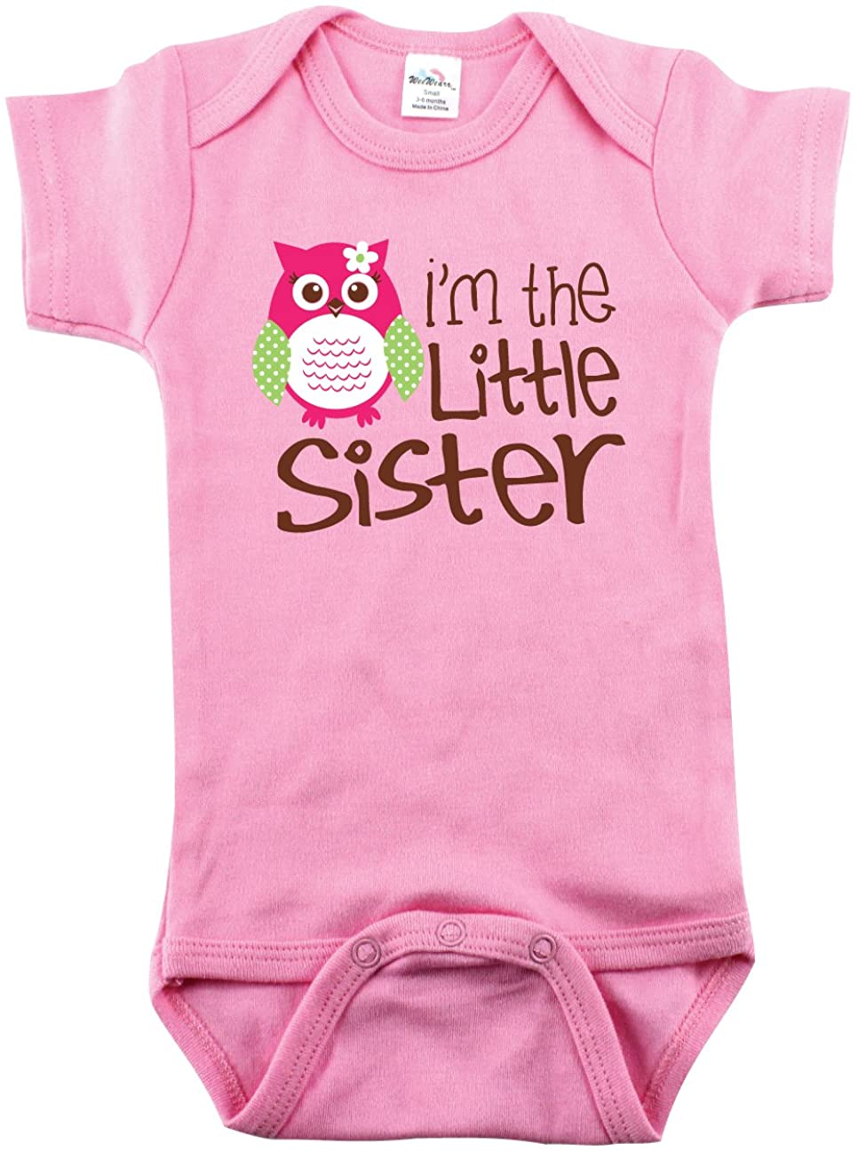 Bodysuits for Baby Girls, I'm The Little Sister with Owl, Little Sisters Roll