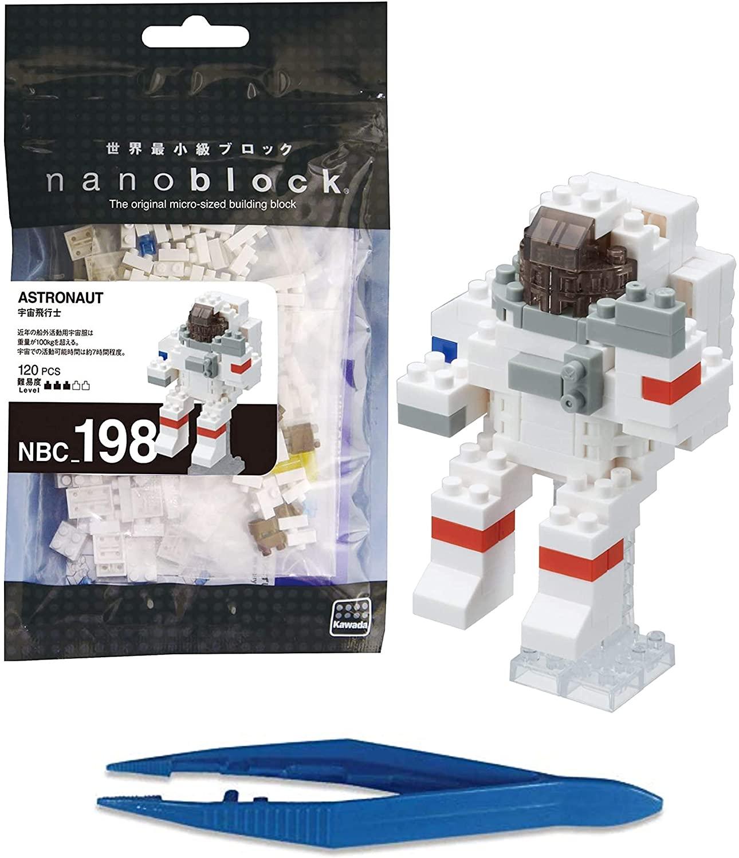 KAWADA Nanoblock Astronaut + Gift Tweezers Plastic Cube Building Blocks (Smartoys)