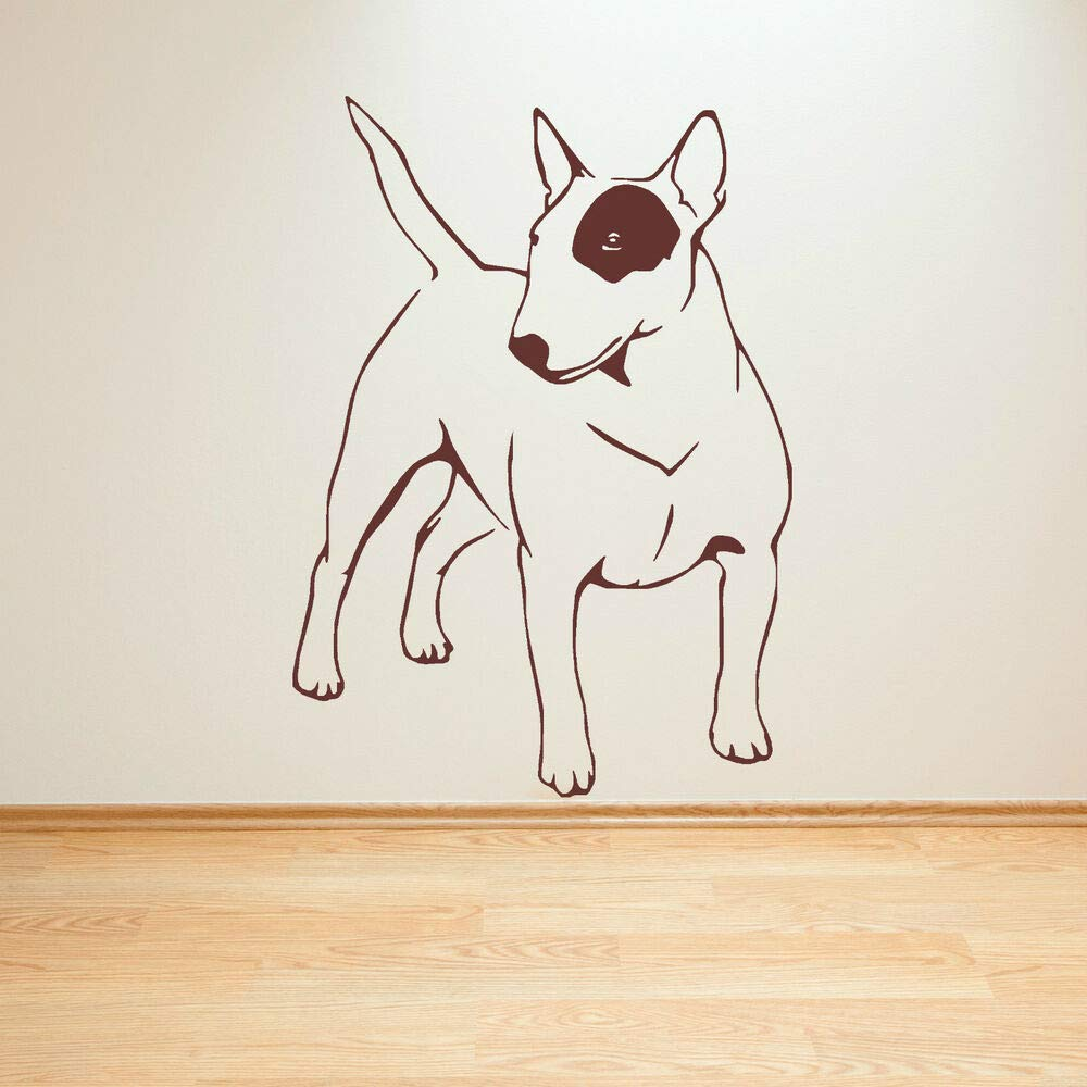 English Bull Terrier Cane Vinyl Murale Adhesive Decal for Home Bedroom Decor