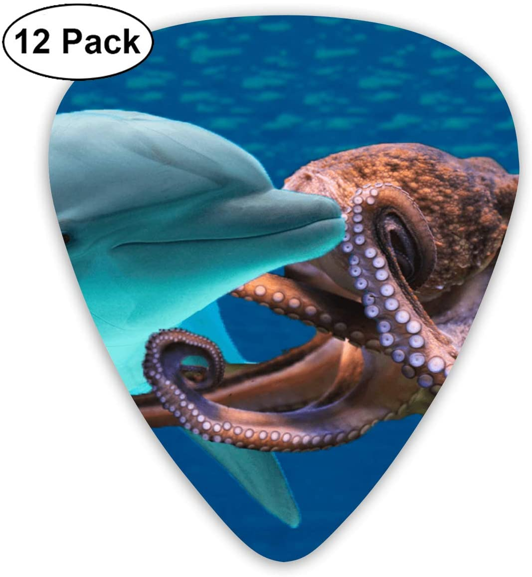 Chion 351 Shape Classic Celluloid Dolphins and Octopuses Guitar Picks 12 Pack