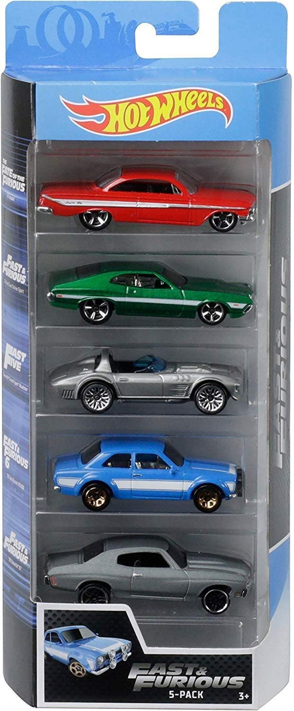 Hot Wheels Fast & Furious 5PK Vehicles