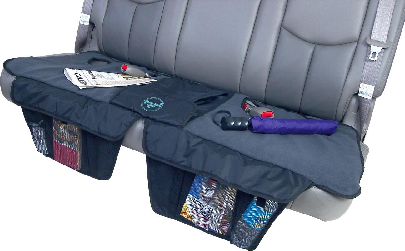 Clean Kids Club Car Seat Cover for Kids and Infants, Auto Rear Seat Protector and Organizer