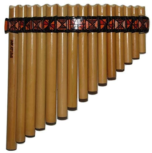 Beginner Bamboo Pan Flute - Wool case & Tuning stick included