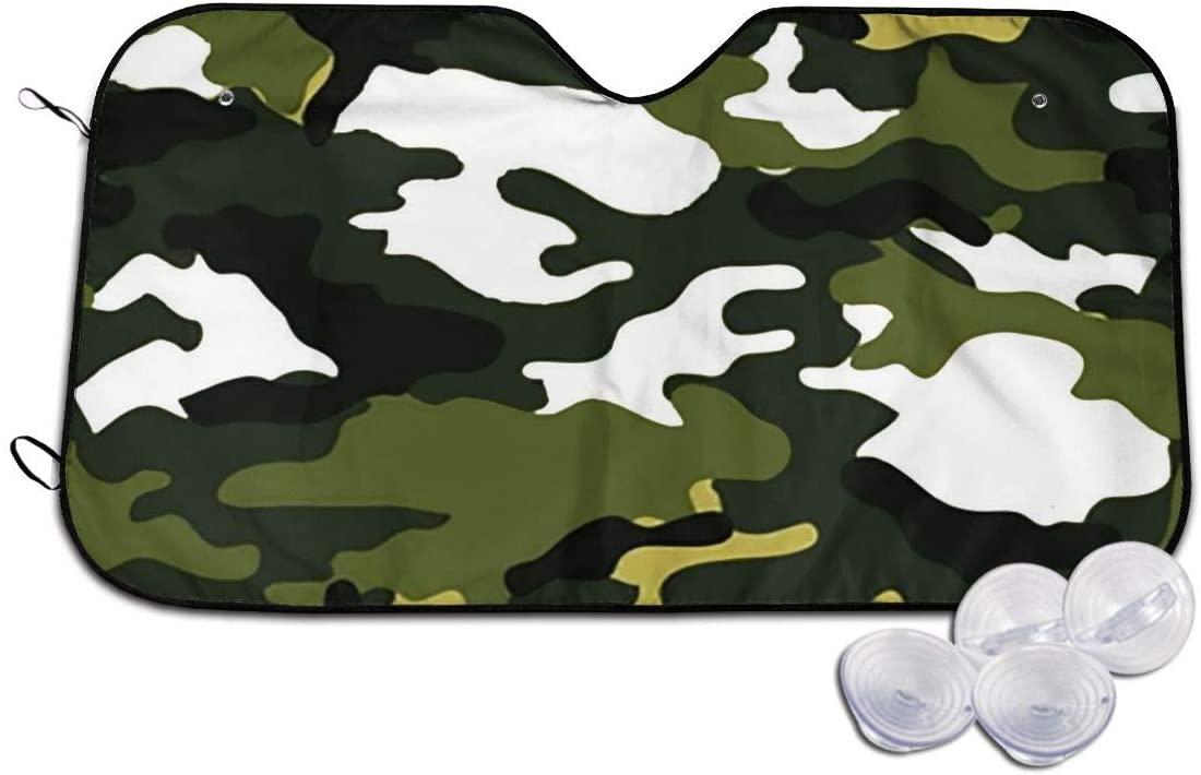 Windshield Shade Army Green Camo Blocks Uv Rays Keeps Your Vehicle Cool Visor Protector Automotive Front Window Heatshield