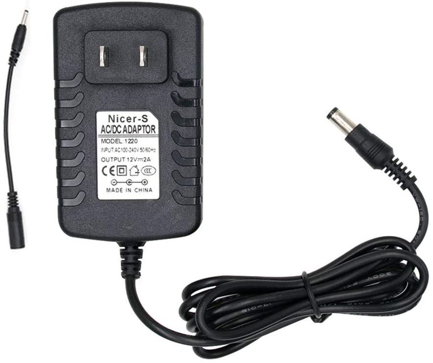 12V AC/DC Adapter for Spectra S1, S2, SPS100, SPS200, Spectra 9 Plus, M1 Breast Pump, Baby Breast Pump Double Electric Hospital Grade Breast Pump Replacement Power Supply Cord Charger Adaptor