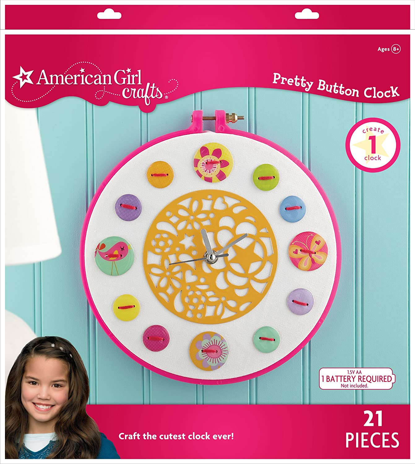 American Girl Crafts Button Clock Kit