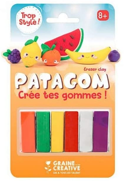 Graine Créative Patagom 6-Color Eraser Clay - Fruits