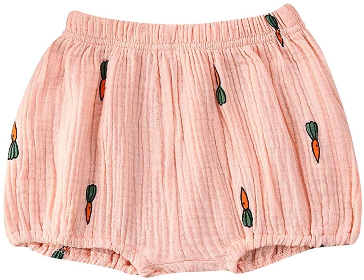 Ambabe Newborn Unisex Baby Boy Girl Cotton Linen Bloomer Shorts Carton Loose Harem Shorts Basic Diaper Cover Underwear