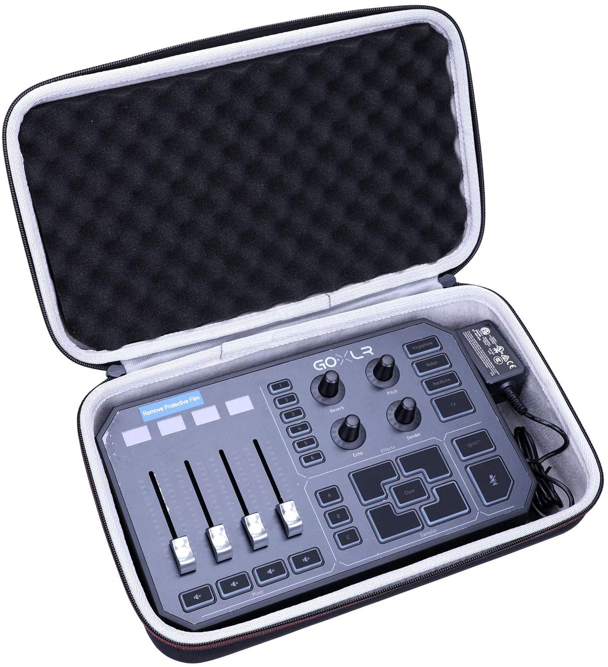 LTGEM Hard Case for GoXLR Mixer, Sampler, Voice FX Travel Carrying Protective Storage Bag