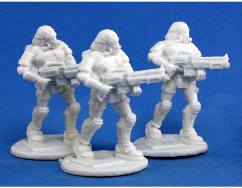 Reaper Miniatures Nova Corp: Rifleman (3) #80015 Chronoscope Bones Figure