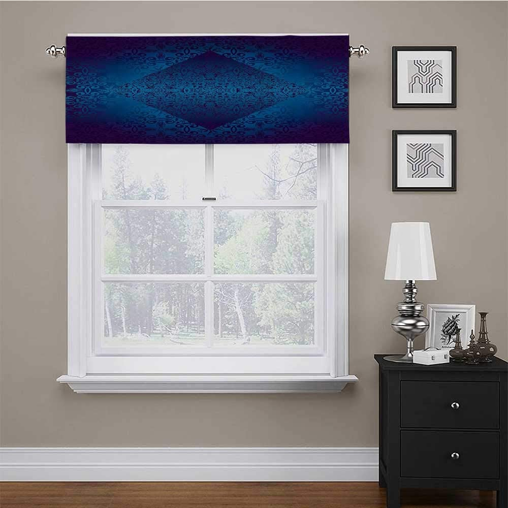 carmaxs Valance Curtains Victorian for Kids Room/Baby Nursery/Dormitory Ombre Seamless Classic Design with Little Light in The Middle Artwork 42