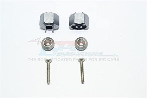 Tamiya T3-01 Dancing Rider Trike Upgrade Parts Aluminum Wheel Hex Adapter (+1mm) - 1Pr Set Gray Silver