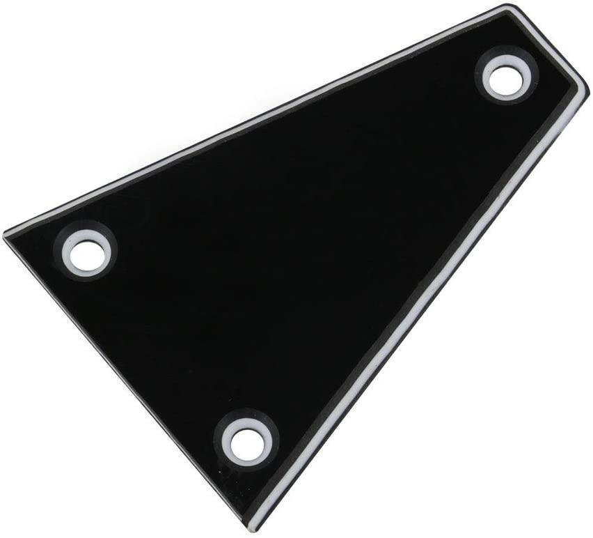 Mxfans 3 Screw Holes 3 Ply Plastic Blank E-Guitar Neck Truss Rod Cover HA-1001