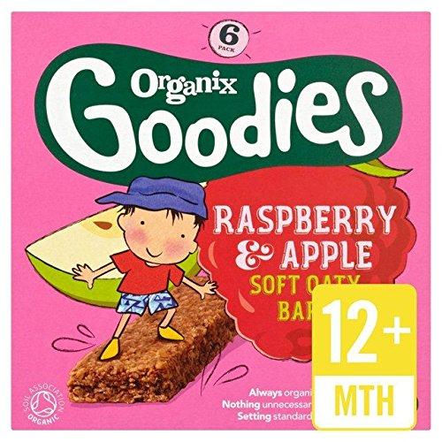 Organix Goodies Organic Soft Oaty Bars - Raspberry & Apple 12mth+ (6x30g)