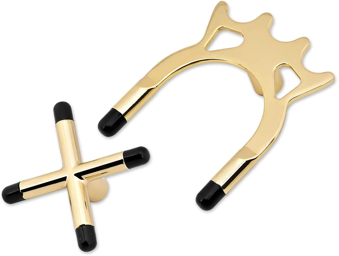 DS. DISTINCTIVE STYLE Set of 2 Billiard Brass Bridge Heads Pool and Snooker Cross and Spider Cue Rests