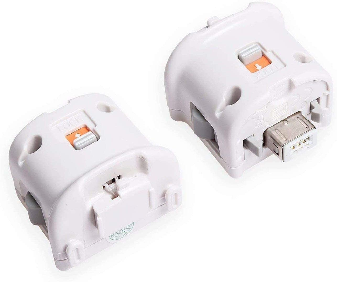 Anokey Wii Motion Plus Adapter for Nintendo Wii Remote Controller - 2 Set White