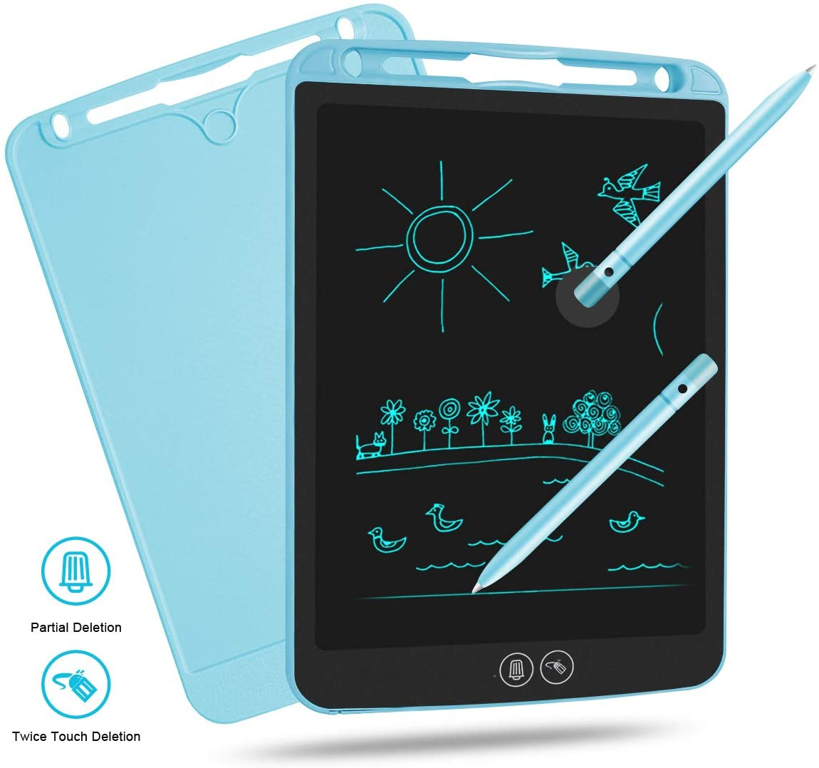 LCD Writing Tablet 10 Inch, Electronic Drawing Tablet Writing Board Doodle Board Portable Tablet for Kids Girls Boys Adults at Home Travel School Office
