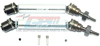 GPM Traxxas Rustler 4X4 VXL (67076-4) Upgrade Parts Harden Steel #45 Front Axle CVD Drive Shaft with Alloy Body - 1 Pair Set Silver