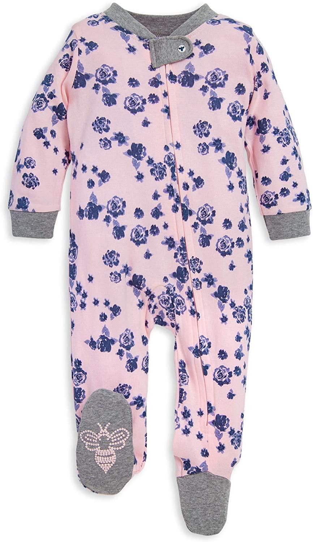Burt's Bees Baby Baby Sleep & Play, Organic One-Piece Romper-Jumpsuit Pj, Zip Front Footed Pajama