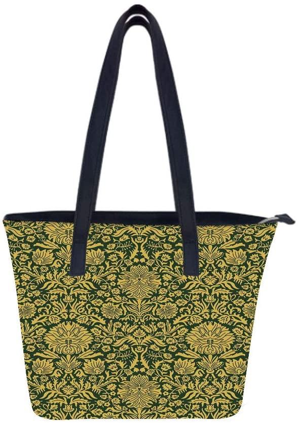 Floral Victorian Women Leather Laptop Tote Office Shoulder Handbag Computer Briefcase
