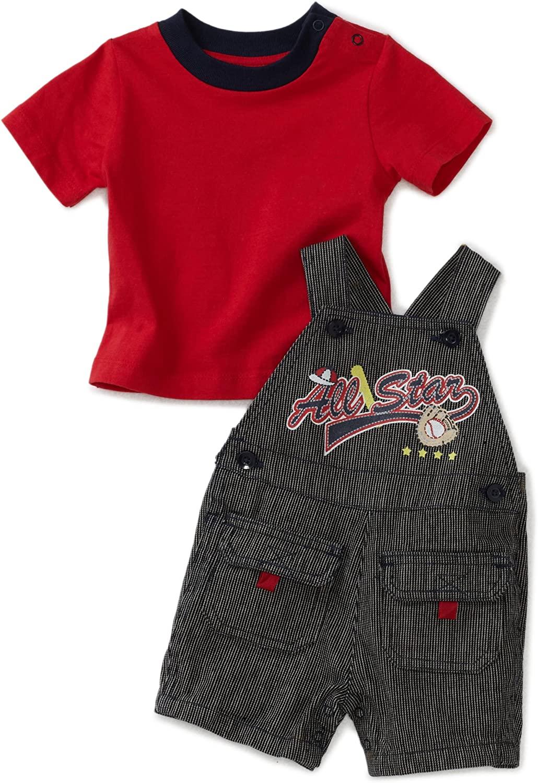 Babytogs Baby Boys' Knit Tee with  Shortall Set