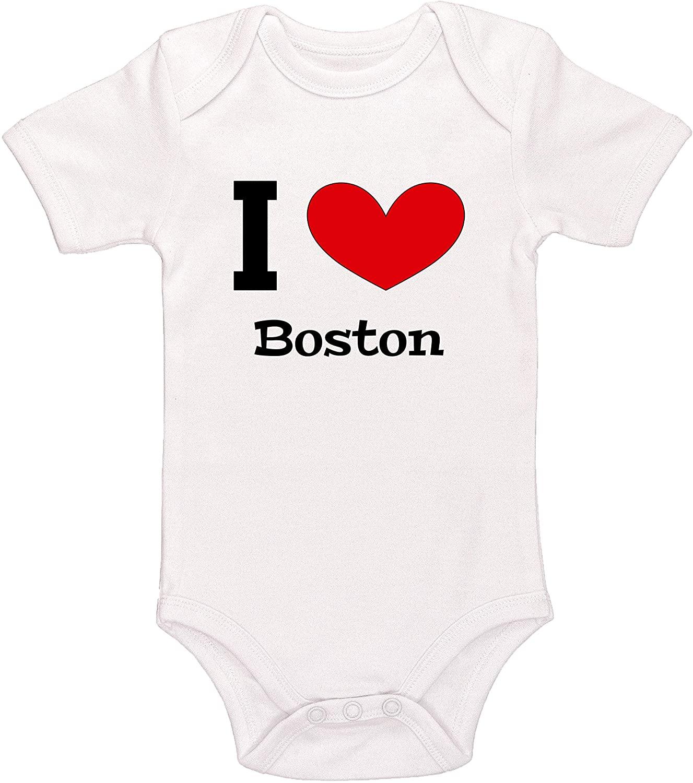 Kinacle I Love Boston Baby Bodysuit