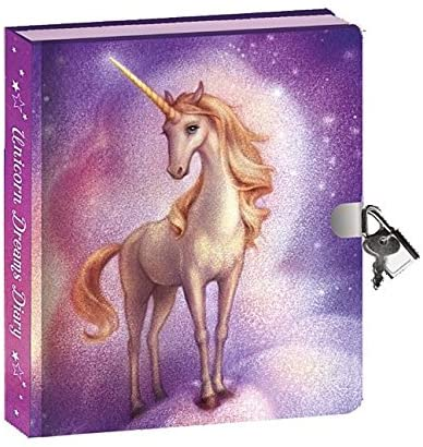 Peaceable Kingdom Unicorn Dreams Invisible Ink Diary with Lock and Key